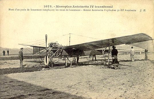 Picture-of-http://www.jetrequest.com/2JRAircraftPictures/Aircraft%20Pictures/Antoinette_IV_contemporary_postcard_circa_1909.jpg-Aircraft gallery